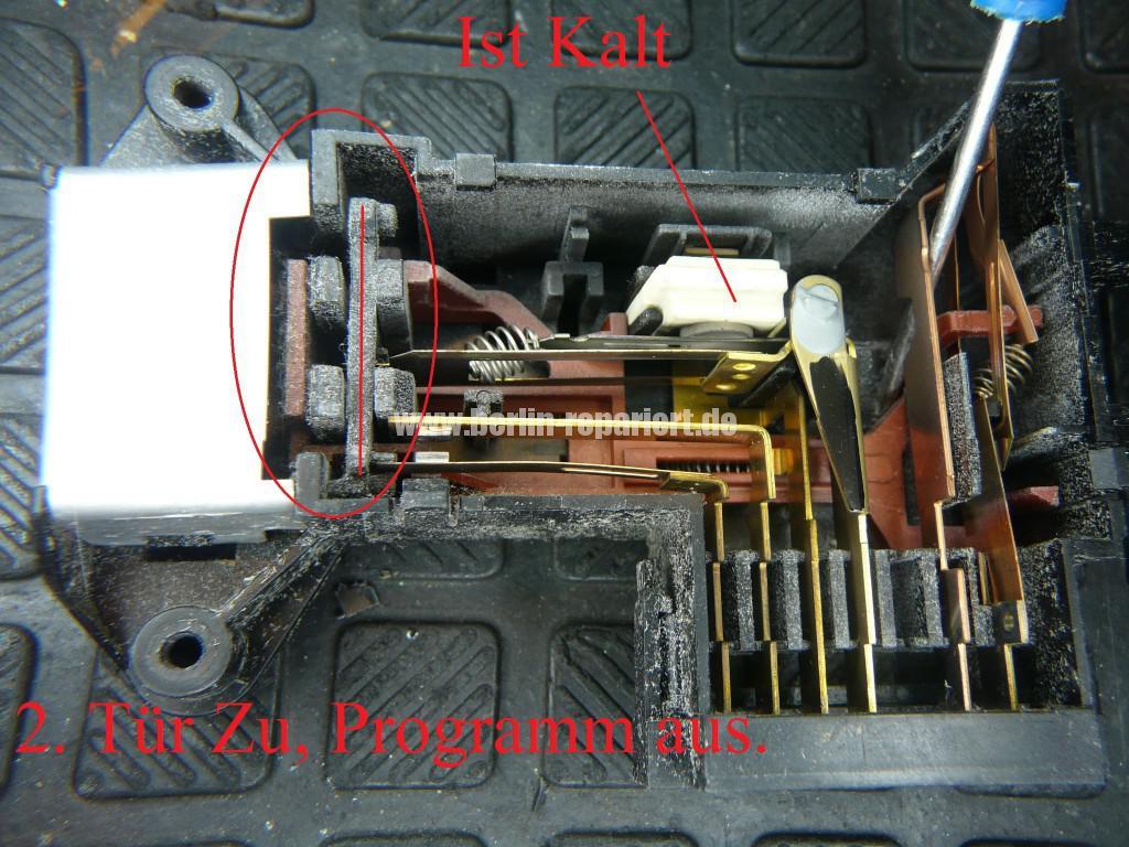 Waschmaschine Türverriegelung Schalter Defekt (1)