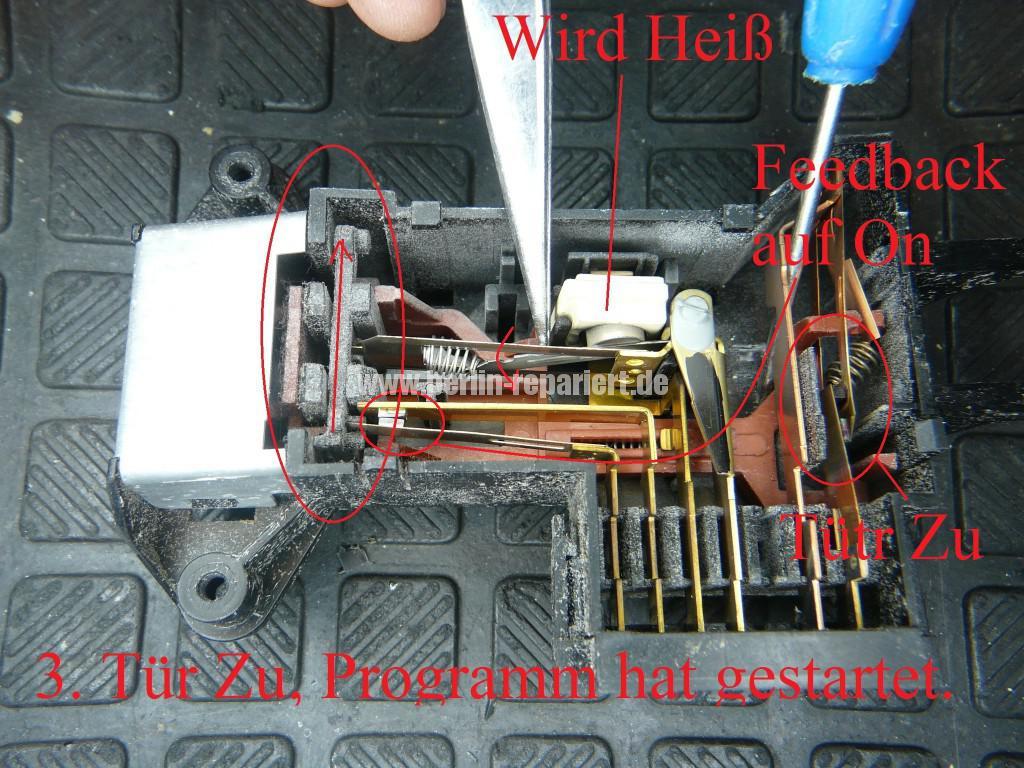 Waschmaschine Türverriegelung Schalter Defekt (2)