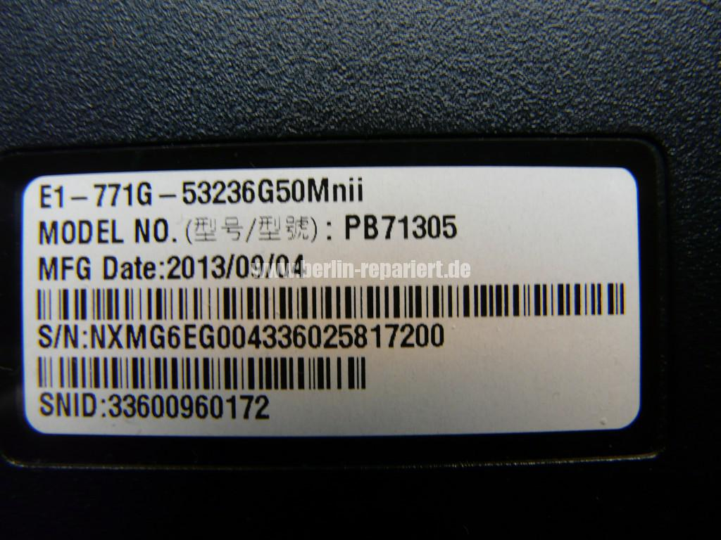 ACER Aspire E1-771, Bild ist Weiß, Display Defekt (8)