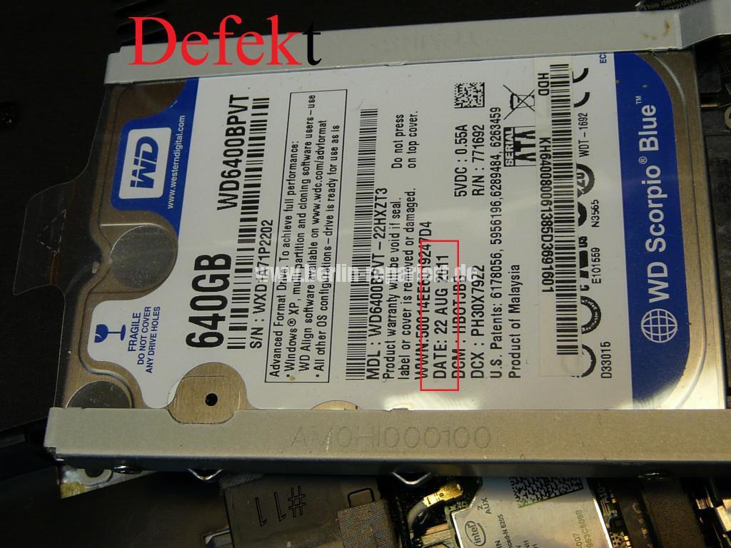 ACER mit WD Scorpio BlueWD6400BPVT Defekt, Stethoskop Test (7)