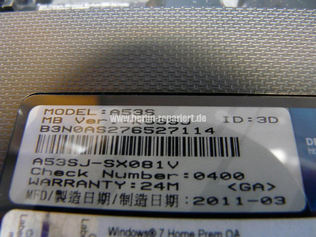 ASUS A53S, Missing operating system, WD Scorpio Blue WD3200BPVT Defekt (6)
