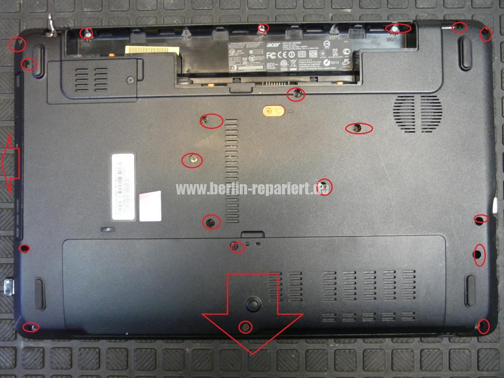 Acer Qualität, Acer E1 Scharniere Defekt, Reparieren (3)