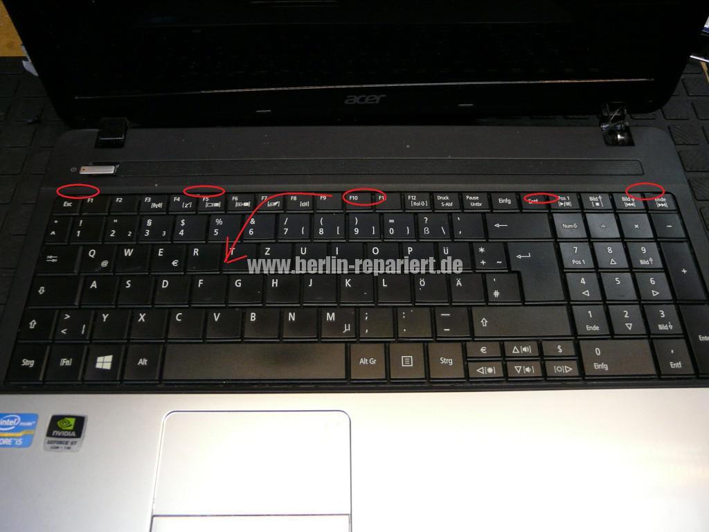 Acer Qualität, Acer E1 Scharniere Defekt, Reparieren (5)