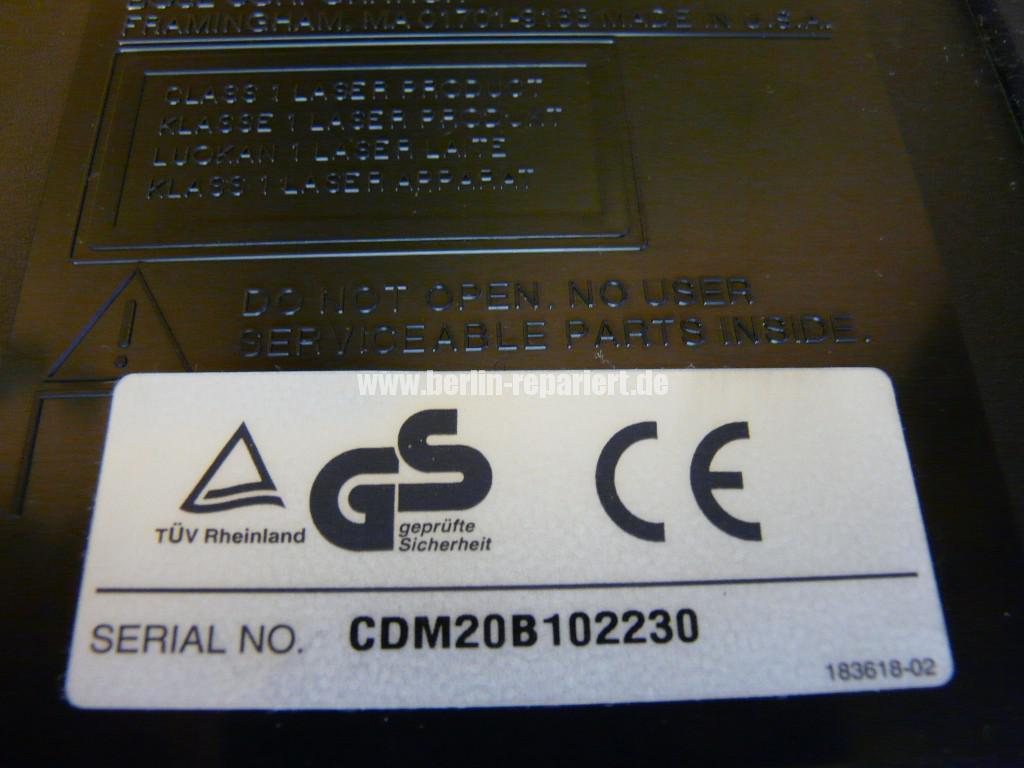 Bose Lifestyle CDM 20B, Liest kein CD