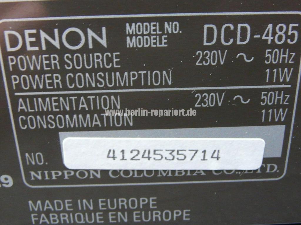 Denon DCD-485, CD Fach klemmt (13)