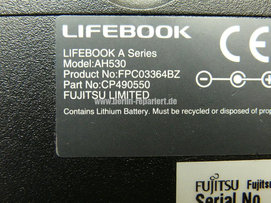 Fujitsu Lifebook AH530, nach Kurzschluss am USB, keine Funktion (13)