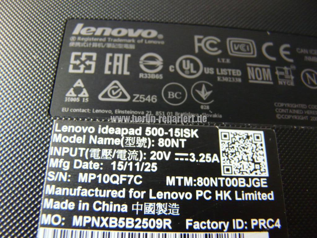 Lenovo Ideapad 500, kein Bild (7)