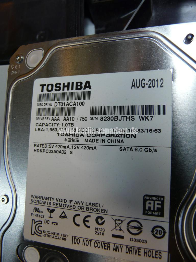 Medion Akoya P2010D, HDD Toshiba Defekt (12)