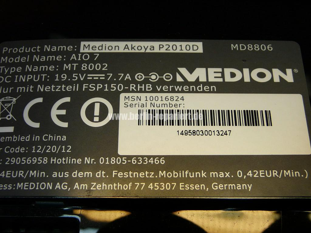 Medion Akoya P2010D, HDD Toshiba Defekt (15)