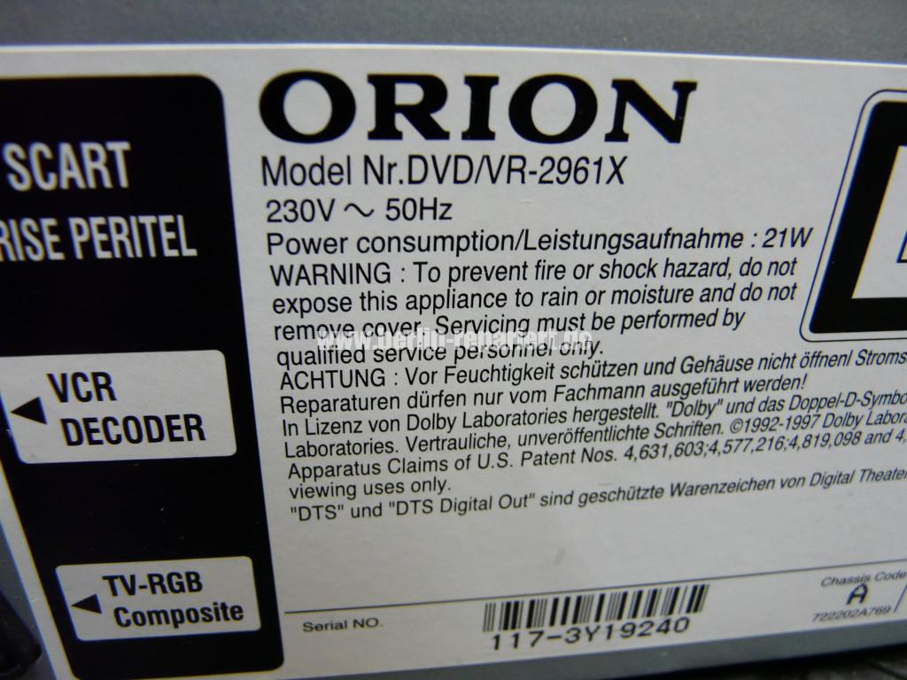 Orion DVD VR-2961, DVD Lademotor Defekt, Reparieren (16)