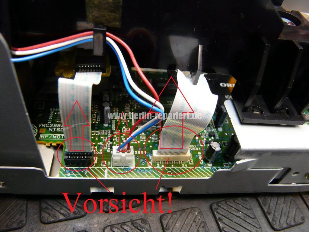 Orion DVD VR-2961, DVD Lademotor Defekt, Reparieren (6)