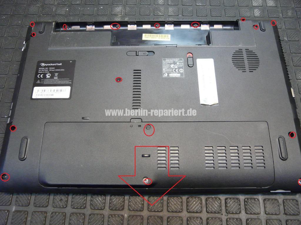 Packard bell Easy Note TK 85, Lüfter macht Geräusche, Lüfter Revidieren (2)
