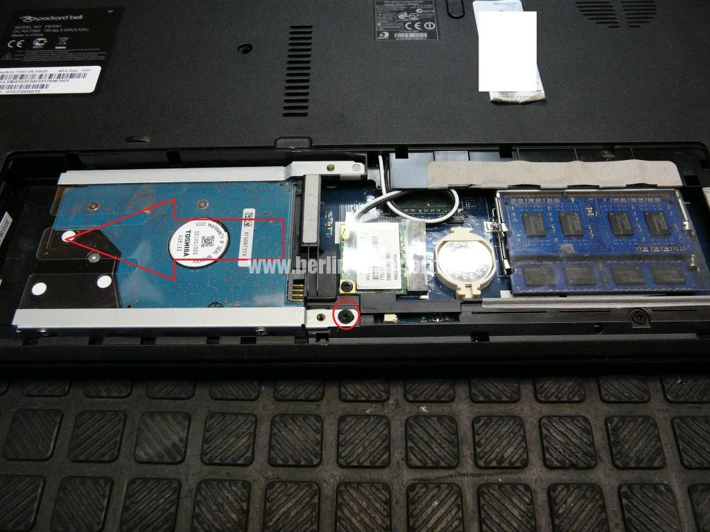 Packard bell Easy Note TK 85, Lüfter macht Geräusche, Lüfter Revidieren (3)