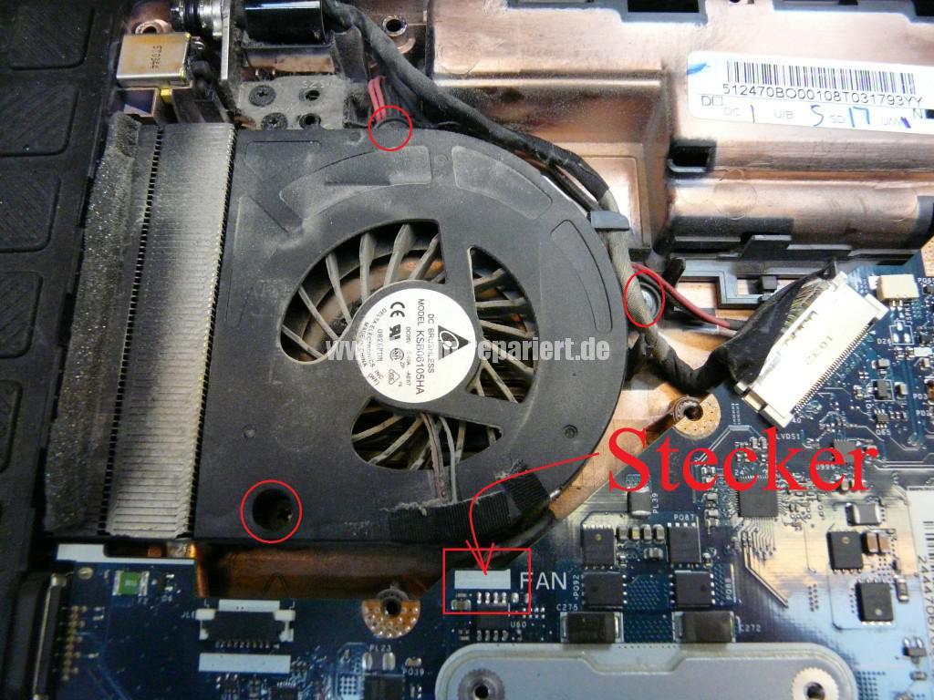 Packard bell Easy Note TK 85, Lüfter macht Geräusche, Lüfter Revidieren (7)