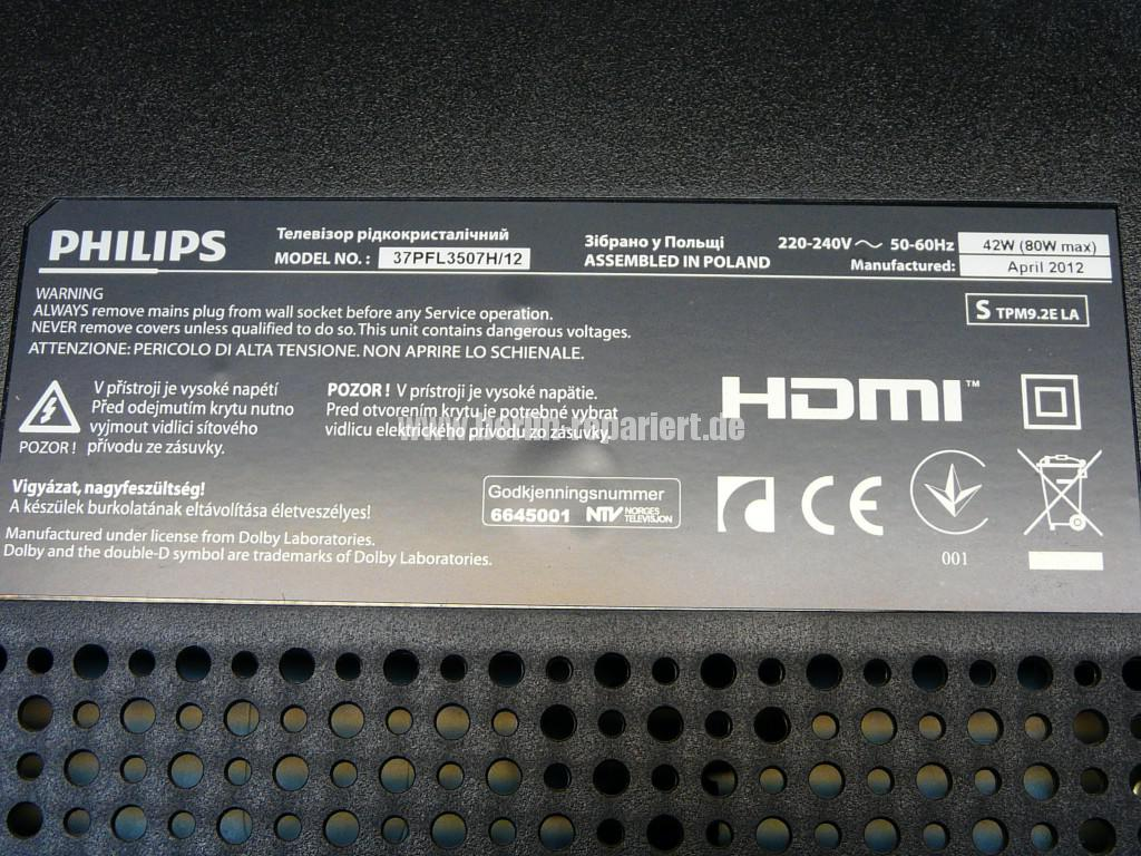 Philips 37PFL3507, geht nicht immer An (18)