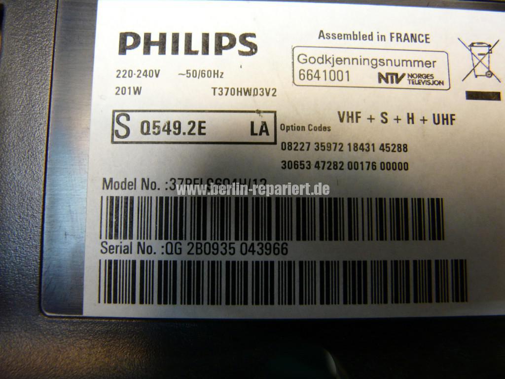 Philips Qualität 37PFL9604, Bild ziettert, streifen in Bild (6)