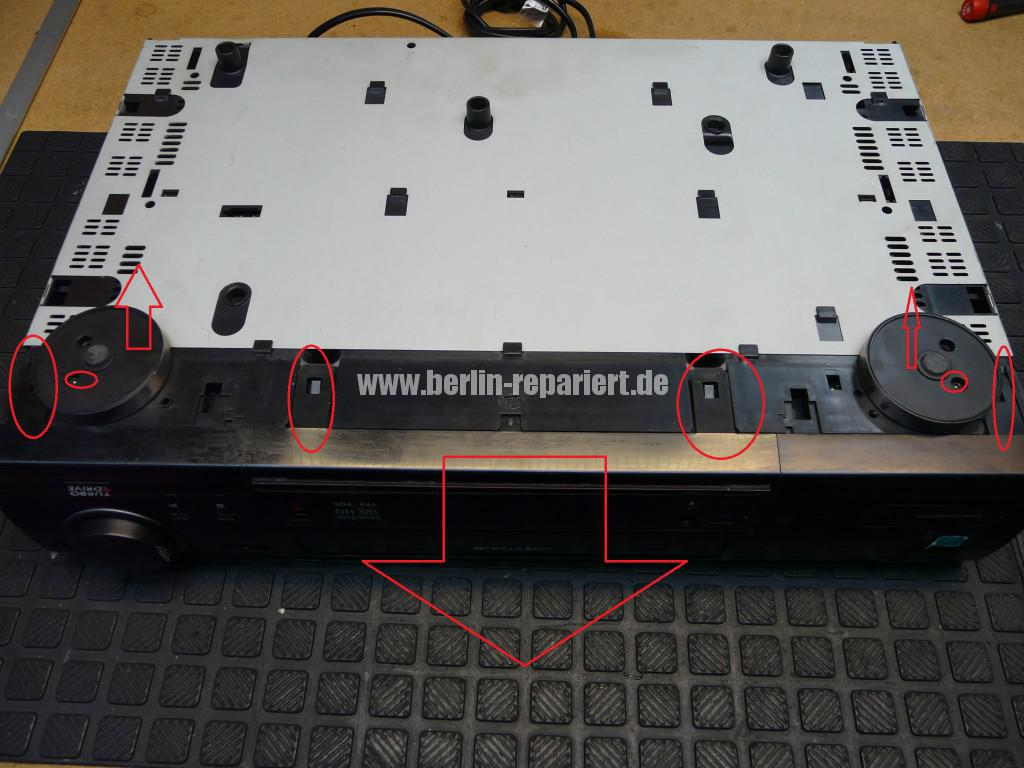 Philips VR700, nimmt kein Kassette an, Kassette kommt nicht raus (3)
