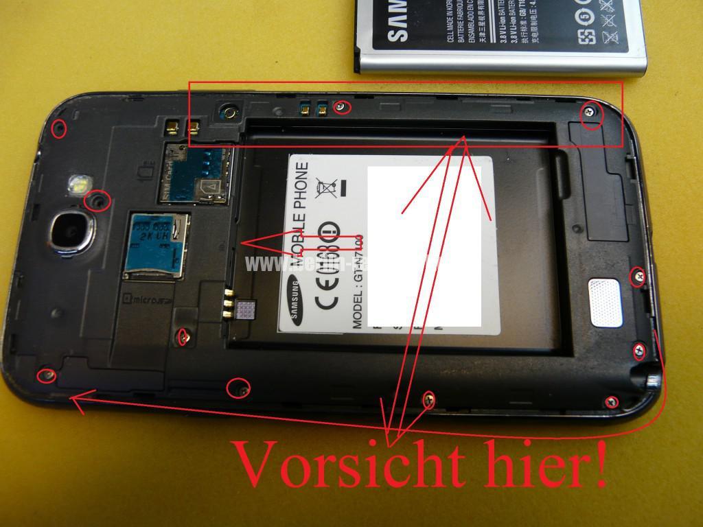 Samsung Galaxy Note 2 GT-N7100, USB Buchse austauschen (2)