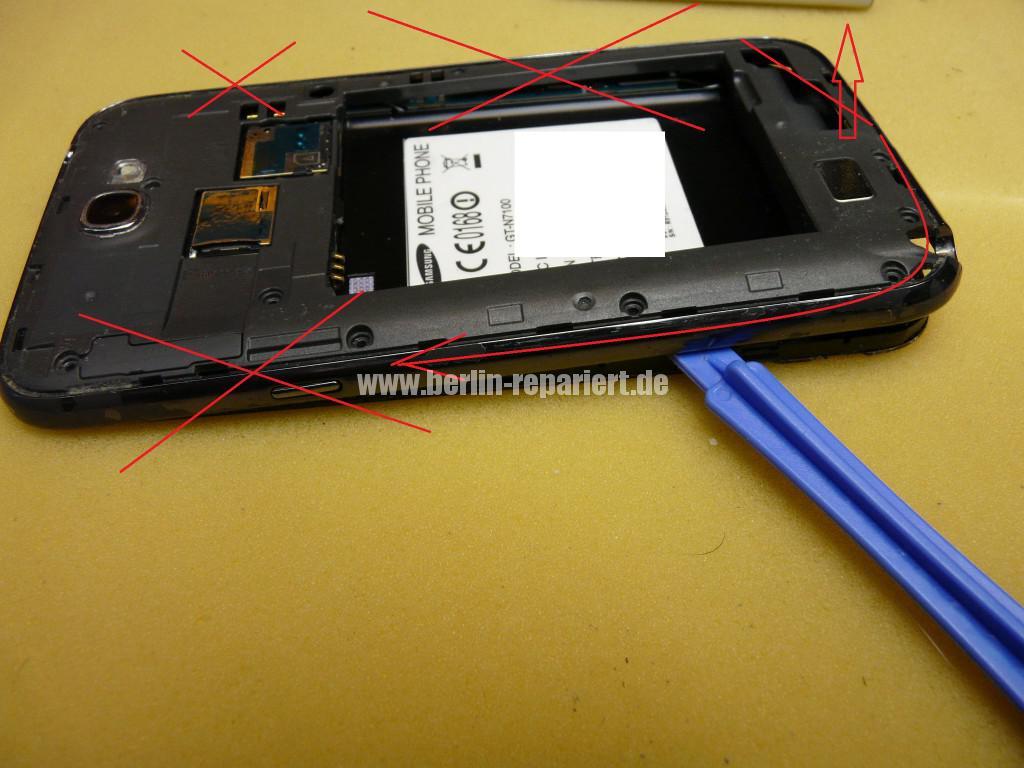 Samsung Galaxy Note 2 GT-N7100, USB Buchse austauschen (4)