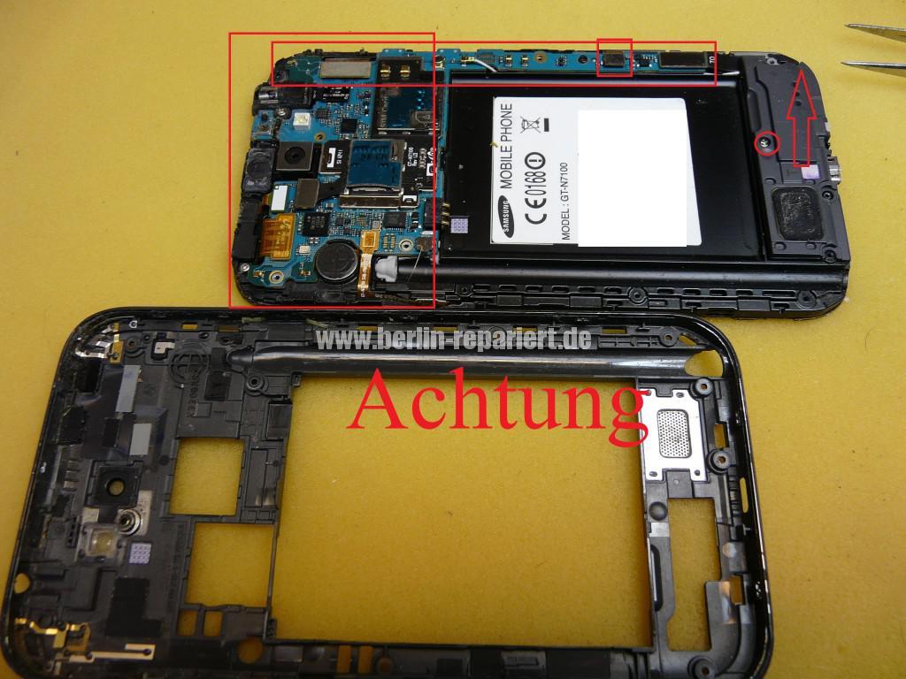 Samsung Galaxy Note 2 GT-N7100, USB Buchse austauschen (5)