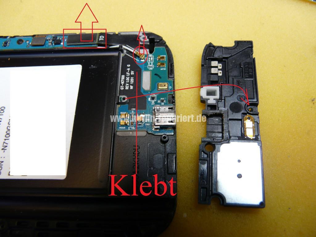 Samsung Galaxy Note 2 GT-N7100, USB Buchse austauschen (6)