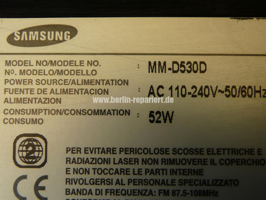 Samsung MM-D530D, geht schwer an, DVD kommt nicht mehr raus (13)