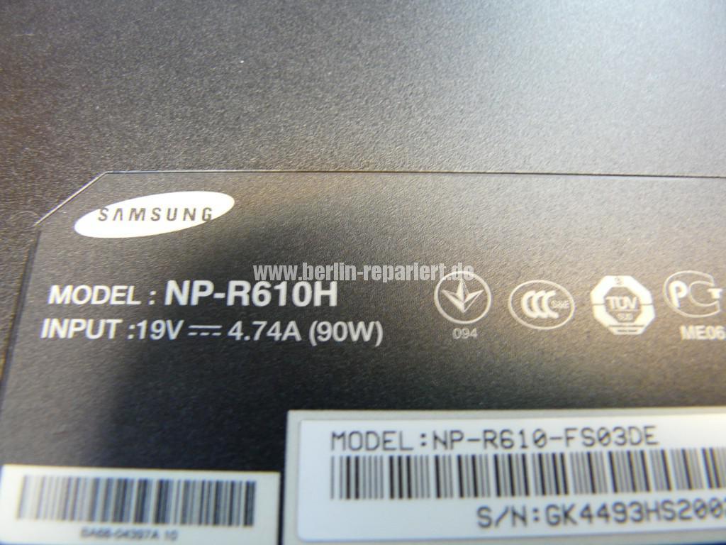 Samsung R610, Lüfter Defekt, Lüfter Reparieren (11)