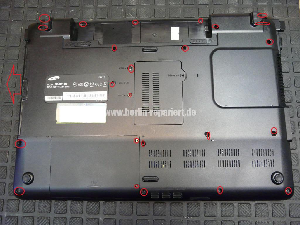 Samsung R610, Lüfter Defekt, Lüfter Reparieren (2)