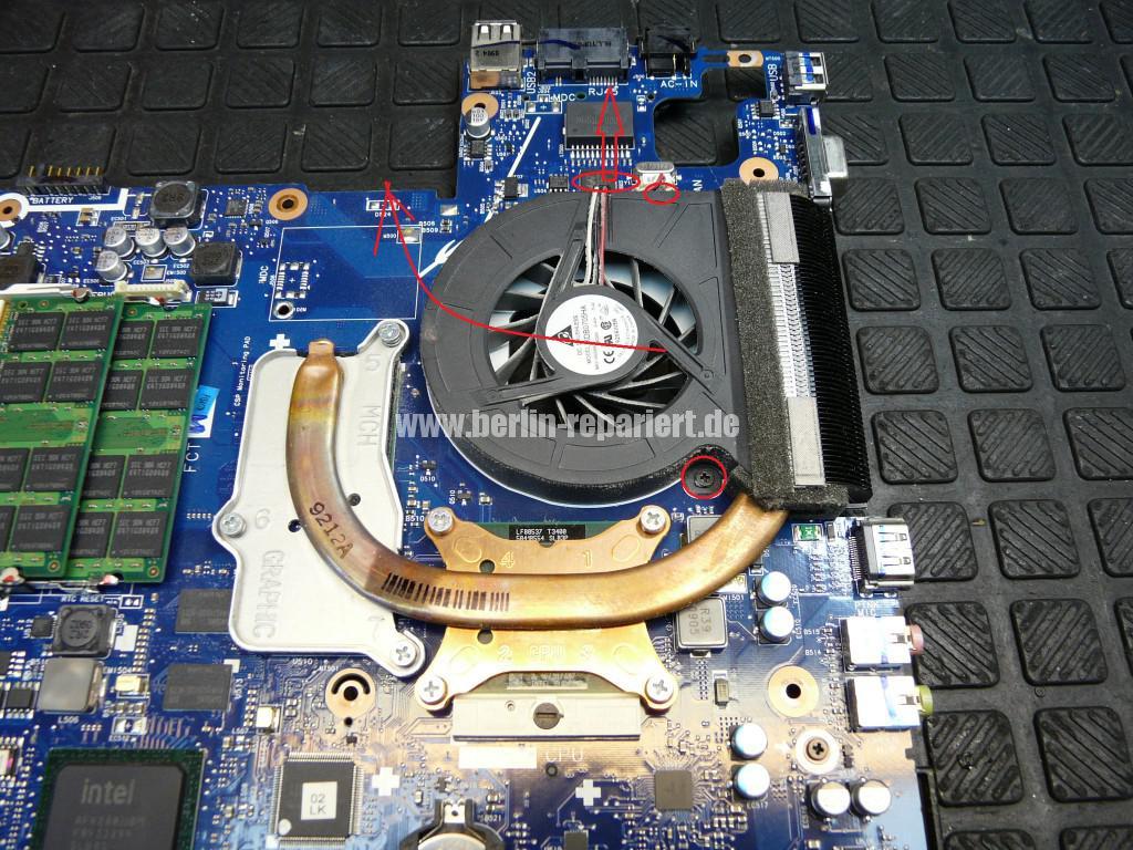 Samsung R610, Lüfter Defekt, Lüfter Reparieren (8)