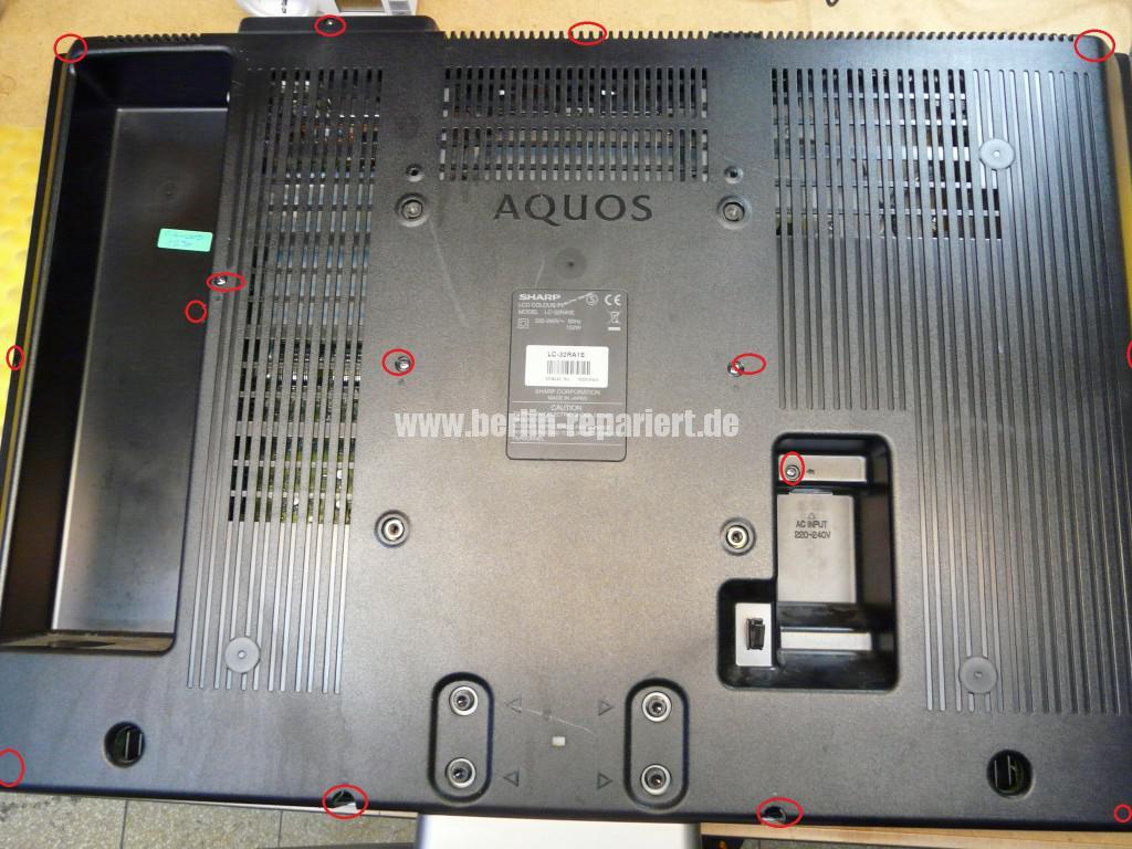 Sharp LC32RA1E, schaltet sich selbst ab, geht nicht an (2)