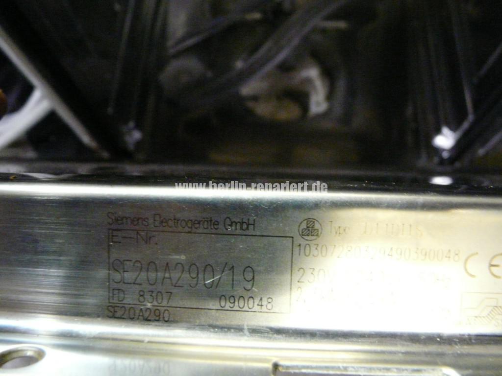 Siemens SE20A290, Wäscht nicht (4)