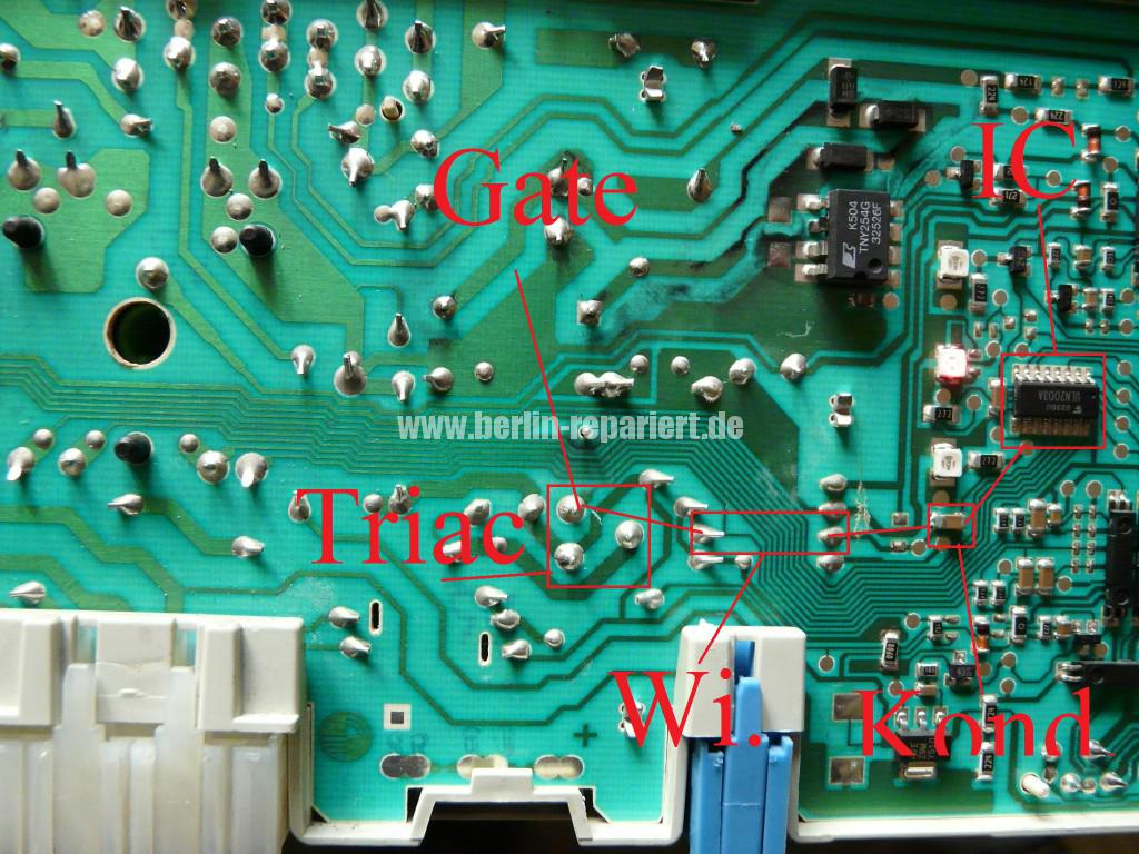 Siemens Siwamat XLM 147F, Motor dreht kurz, AKO 576742-03 Reparieren (5)