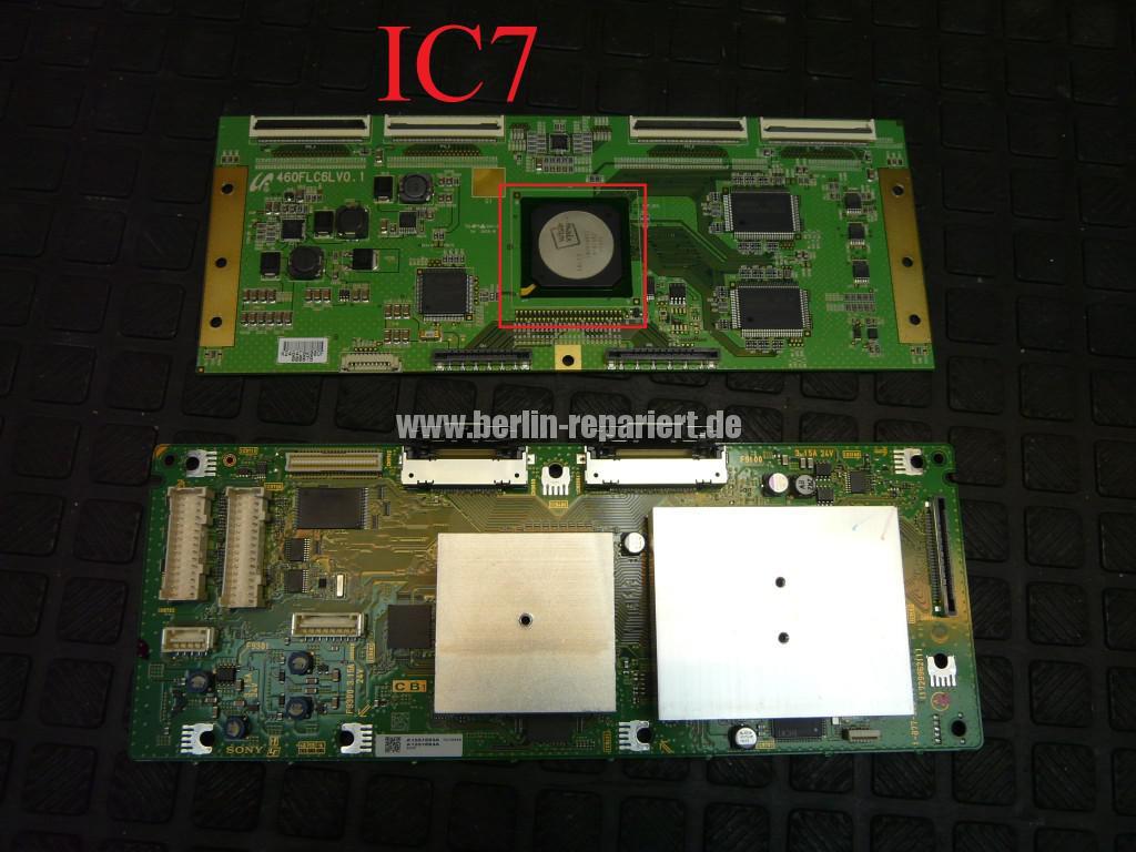 Sony KDL46X4500, Streifen in Bild (12)
