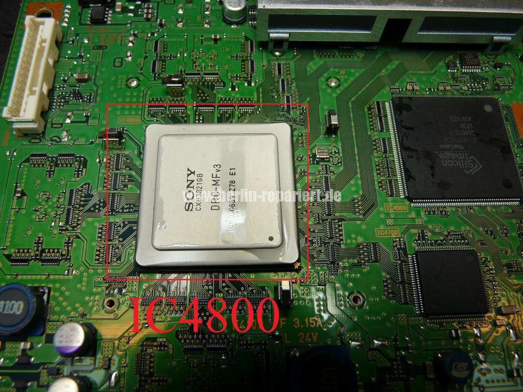 Sony KDL46X4500, Streifen in Bild (17)