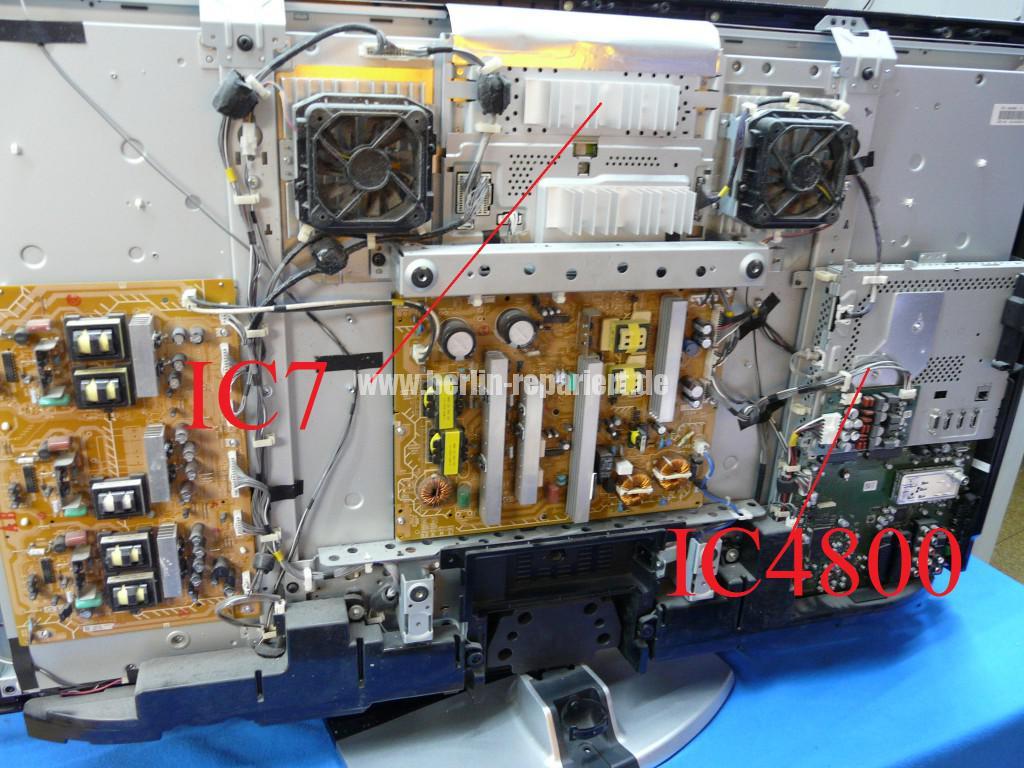 Sony KDL46X4500, Streifen in Bild (3)