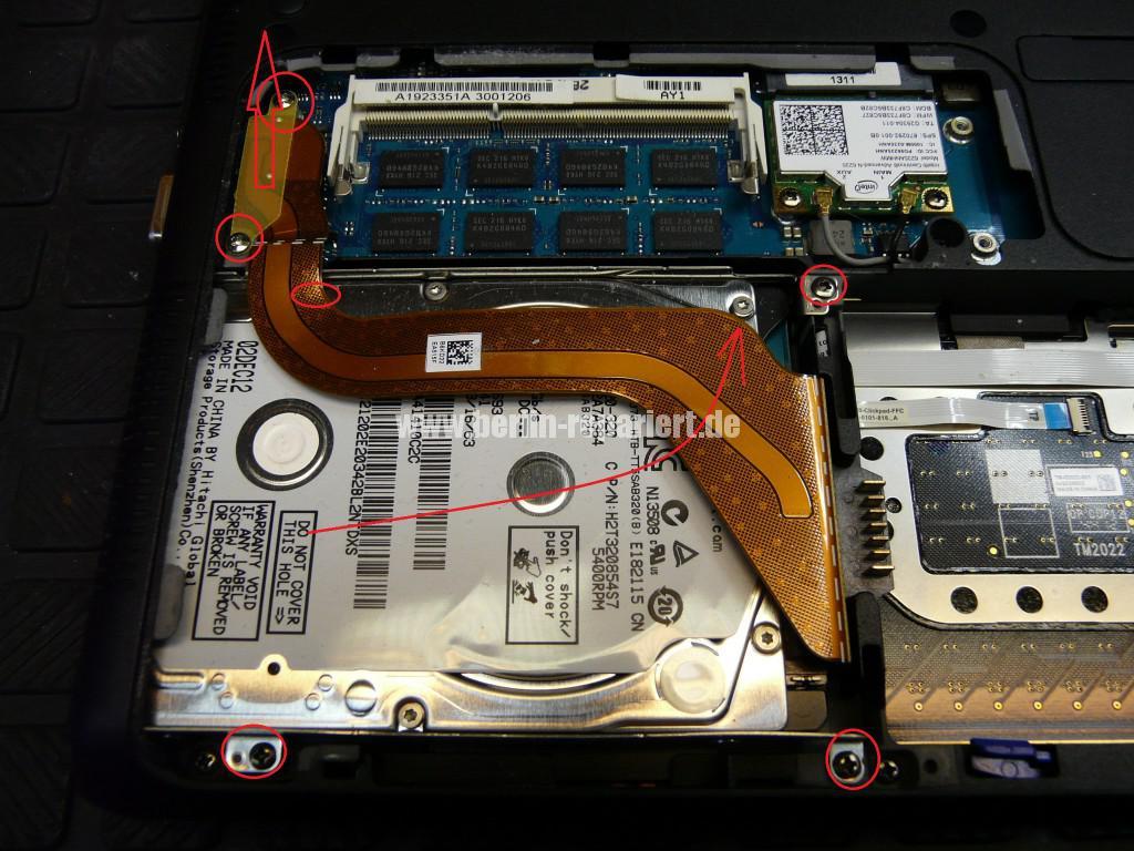 Sony Vaio SVS1313, Festplatte Hitachi Z5K320 Defekt, Austauschen (4)