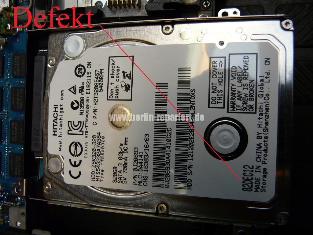 Sony Vaio SVS1313, Festplatte Hitachi Z5K320 Defekt, Austauschen (6)