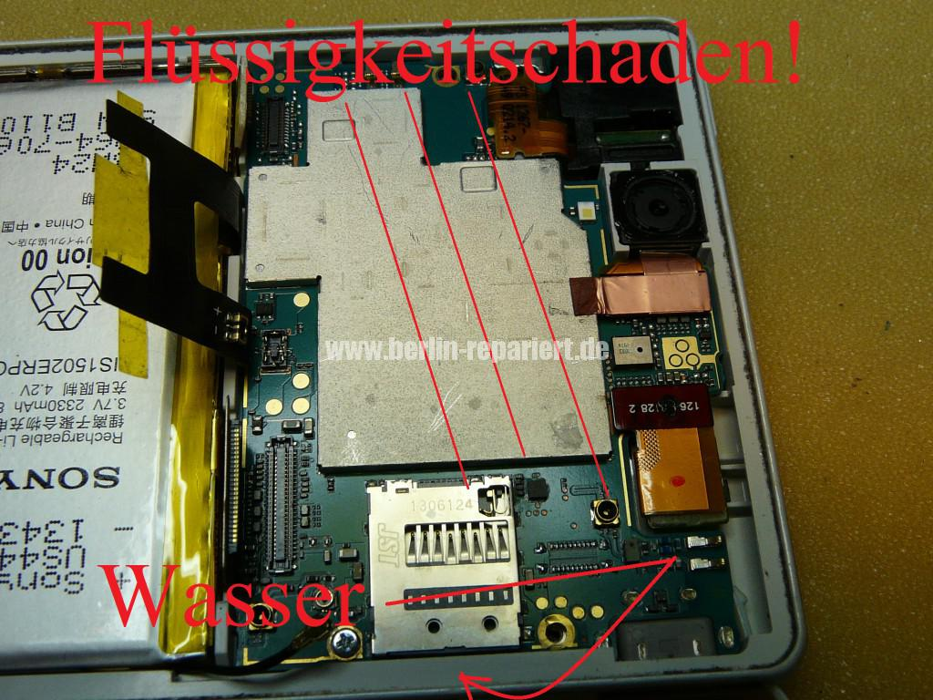 Sony Xperia Z3 Flüssigkeitschaden (12)