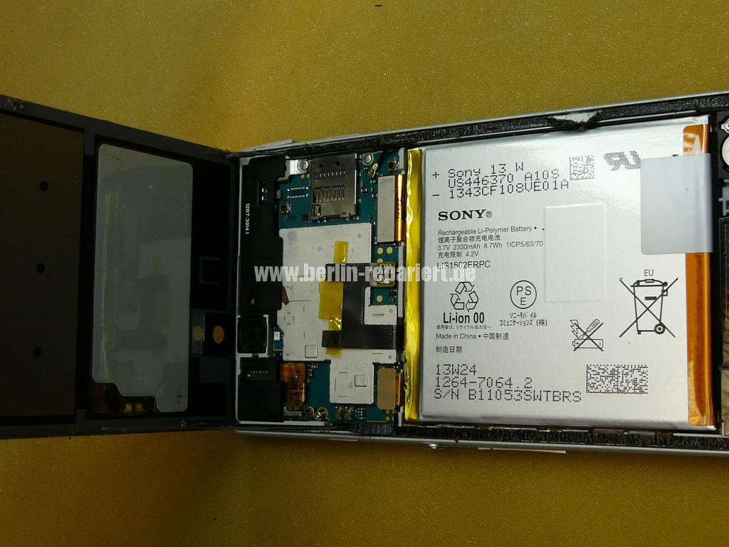 Sony Xperia Z3 Flüssigkeitschaden (4)