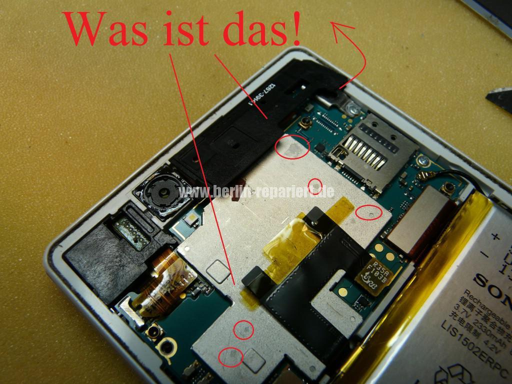Sony Xperia Z3 Flüssigkeitschaden (6)