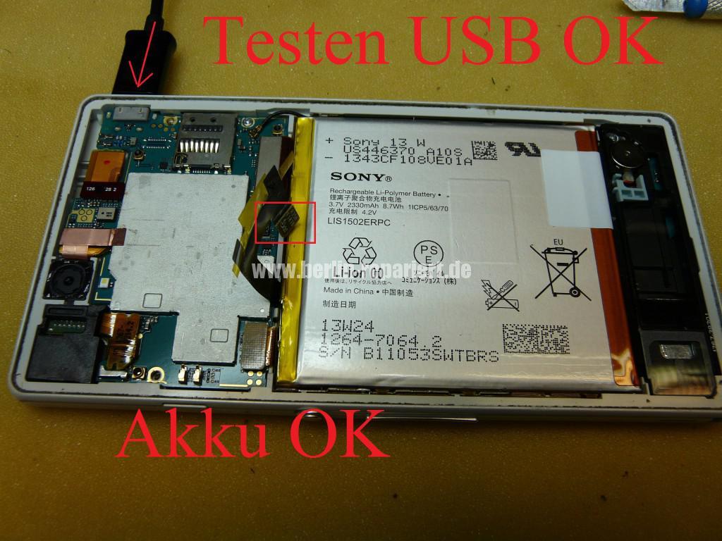 Sony Xperia Z3 Flüssigkeitschaden (9)