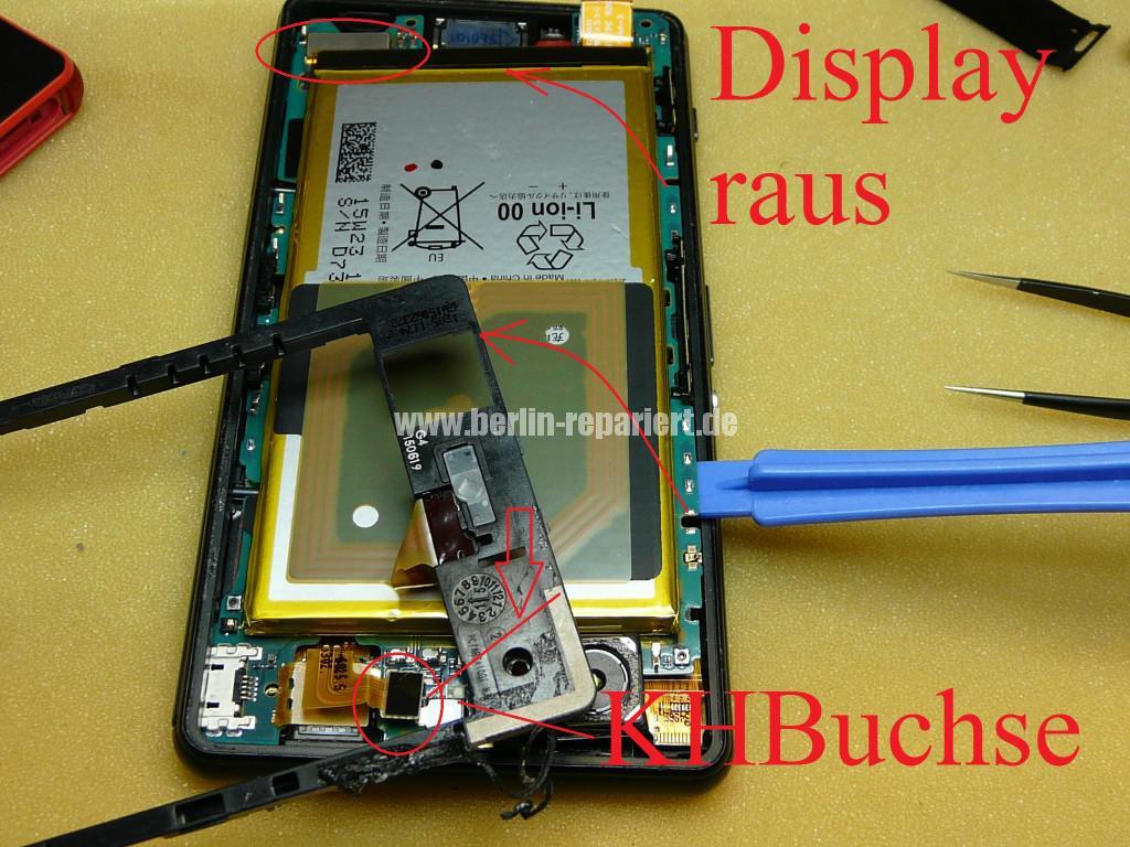 Sony Xperia Z3, LCD Display Defekt, umbau Black Orange (10)