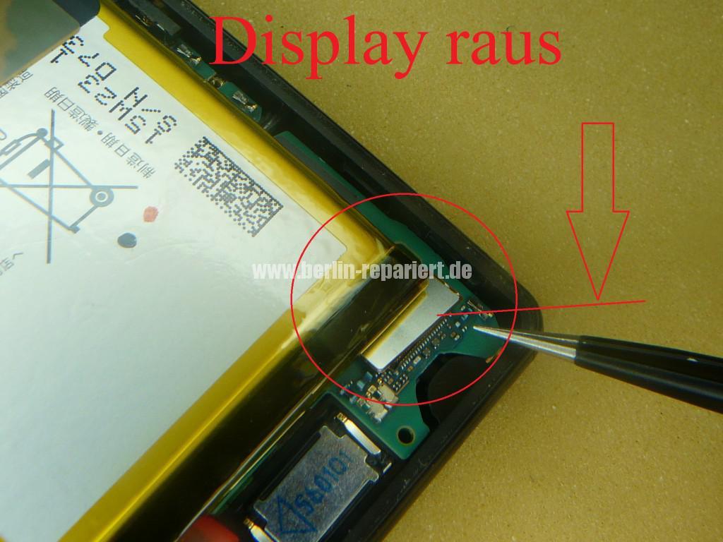 Sony Xperia Z3, LCD Display Defekt, umbau Black Orange (12)