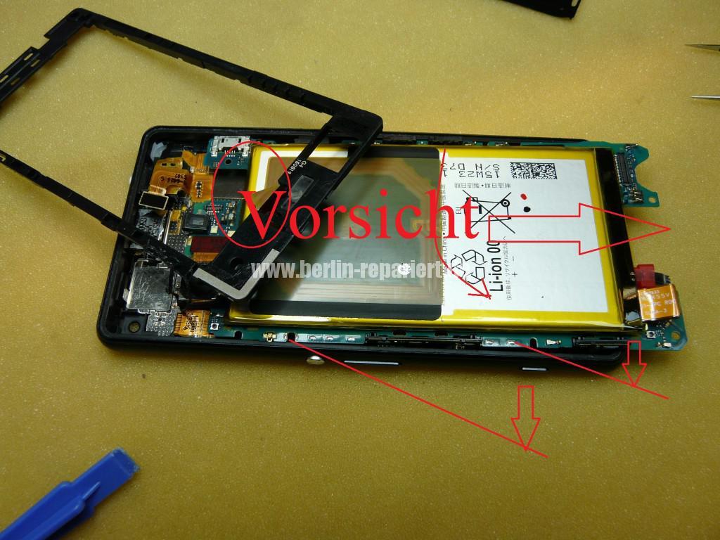 Sony Xperia Z3, LCD Display Defekt, umbau Black Orange (13)