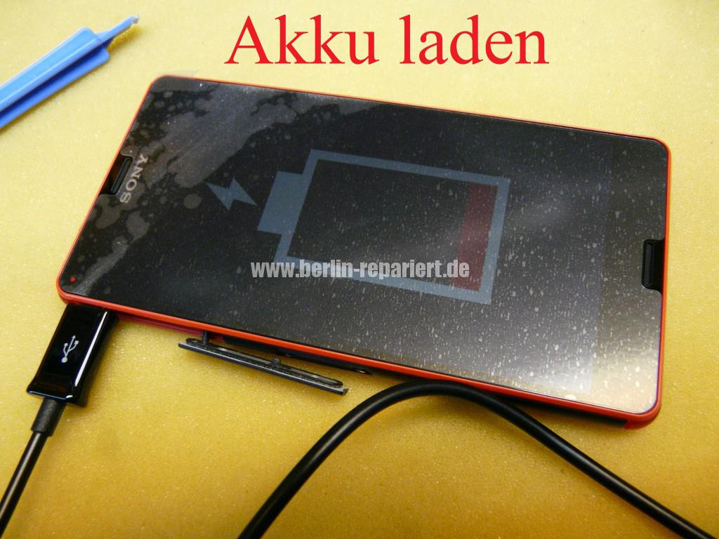 Sony Xperia Z3, LCD Display Defekt, umbau Black Orange (15)