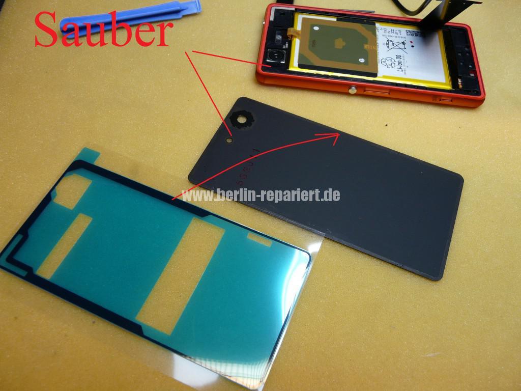 Sony Xperia Z3, LCD Display Defekt, umbau Black Orange (16)