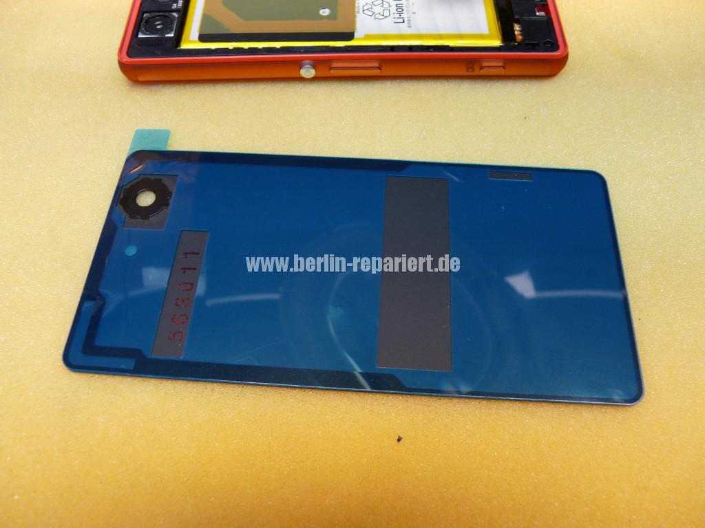 Sony Xperia Z3, LCD Display Defekt, umbau Black Orange (17)