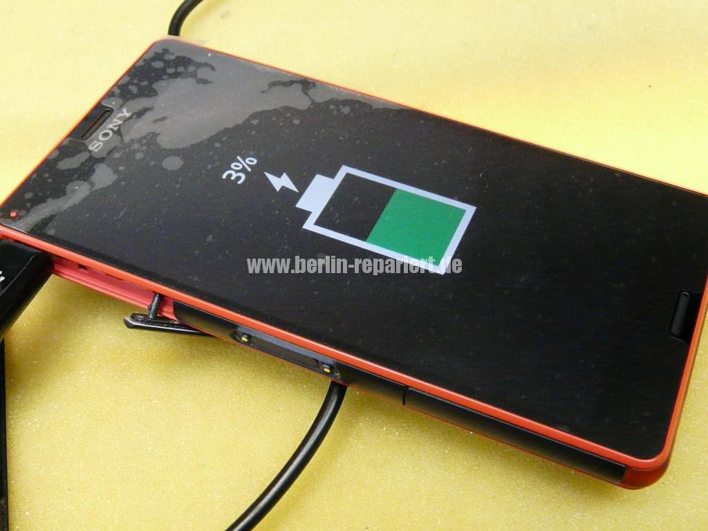 Sony Xperia Z3, LCD Display Defekt, umbau Black Orange (18)