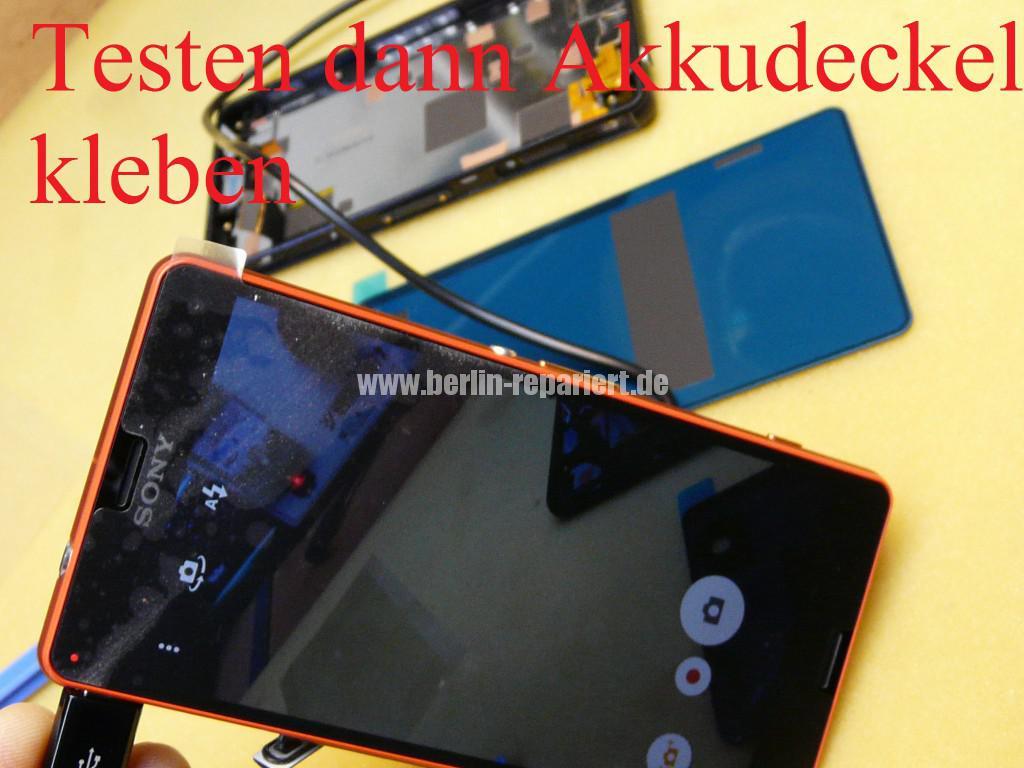 Sony Xperia Z3, LCD Display Defekt, umbau Black Orange (19)