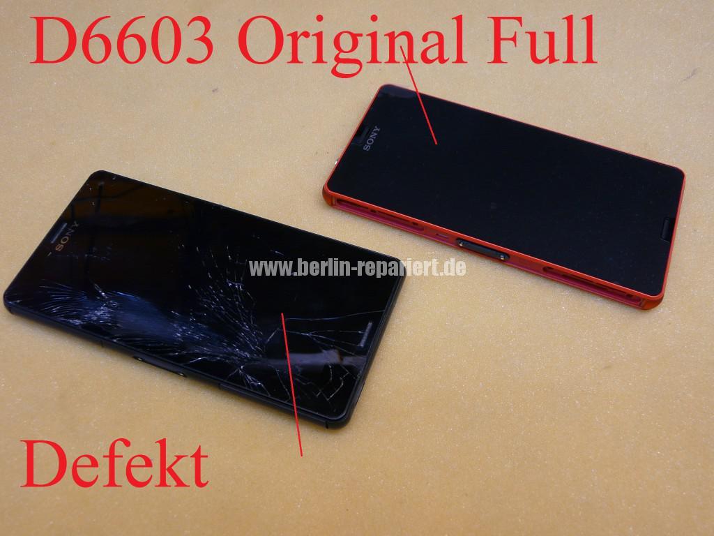 Sony Xperia Z3, LCD Display Defekt, umbau Black Orange (2)